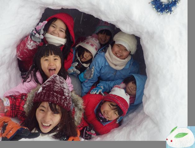みんなで雪だるまやかまくらを作ったり雪合戦やそりすべりをわいわい楽しもう*
