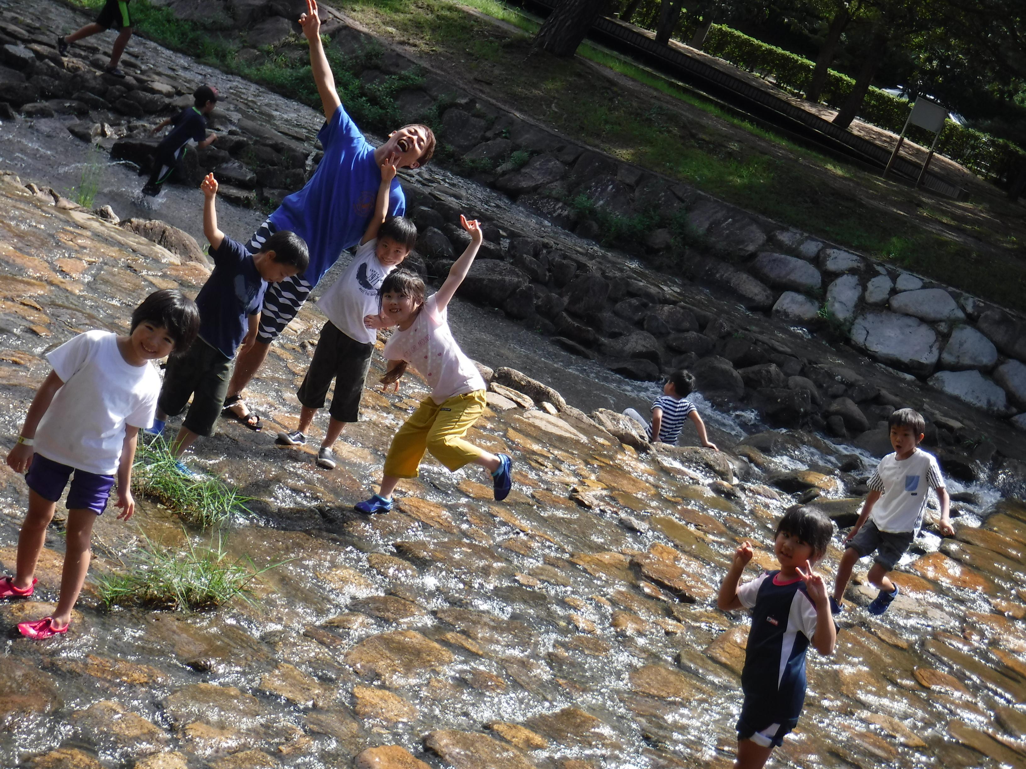 2018年9月:ダッチオーブンで炭火焼ドリア&小川遊び!